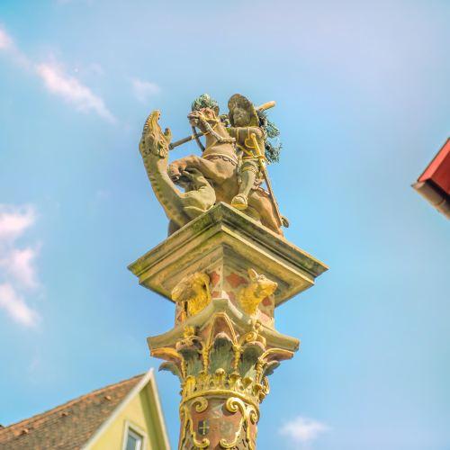 聖喬治屠龍雕像噴水池景點-中弗蘭肯行政區旅遊評論-2020年5月10日旅行指南-Trip.com