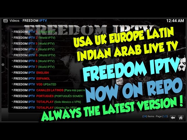 GET ALWAYS THE LATEST VERSION OF FREEDOM IPTV FROM THE REPO