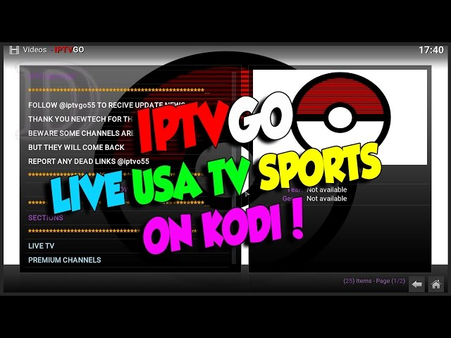 IPTVGO KODI ADDON USA LIVE TV & SPORTS ON KODI!