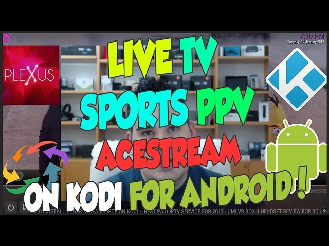 WATCH ANY LIVE SPORTS MATCHES EVENTS PPV ON KODI WITH ACESTREAM FOR