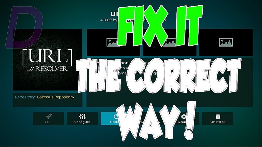 FIX KODI LINKS NOT WORKING THE CORRECT WAY - URL RESOLVER ISSUE