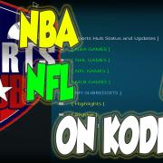Watch NBA NFL NHL MLB on KODI