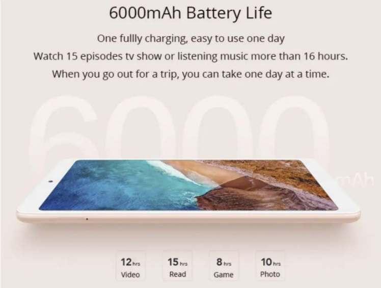 Xiaomi Mi Pad 4 4G Battery Life