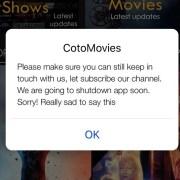 Cotomovies Shutdown