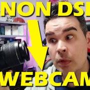 Turn a Canon DSLT into a webcam