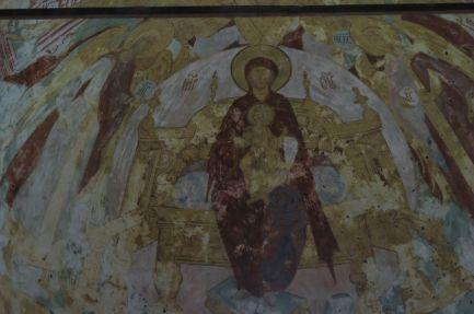 Композиция «Похвала Богородицы». Роспись алтаря Зачатьевского собора Спасо-Яковлевского монастыря