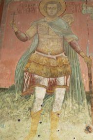 Святой мученик Виктор. Роспись Зачатьевского собора Спасо-Яковлевского монастыря