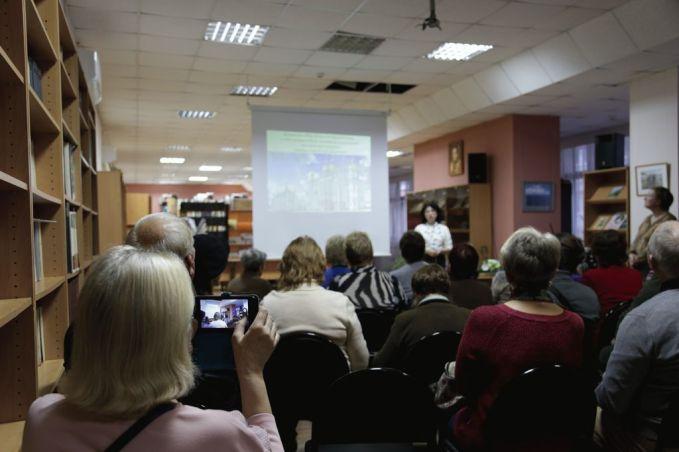 На встрече, посвященной княгине Н. Б. Долгоруковой, в Центральной библиотеке имени М. Ю. Лермонтова г. Ярославля