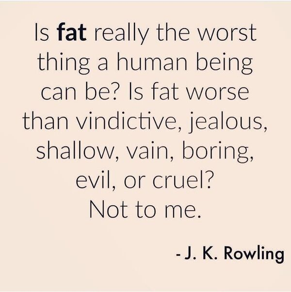 Fat is NOT the most important thing!