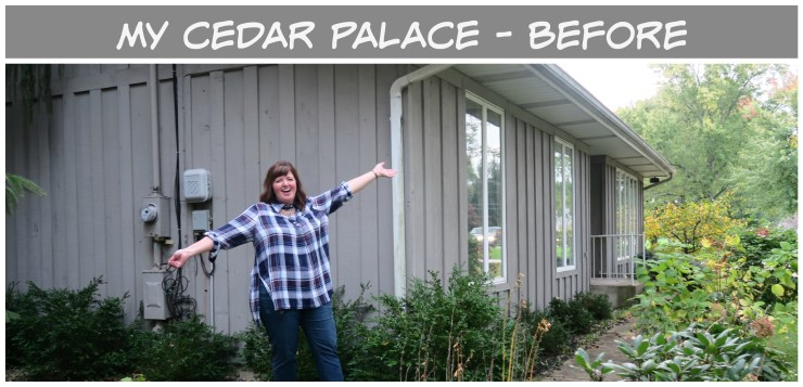 See before photos of our remodel of a little cedar palacd