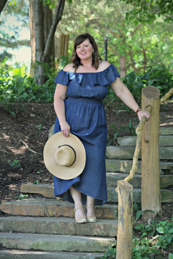 Off shoulder dress / Lane Bryant Dress / Plus Size Fashion