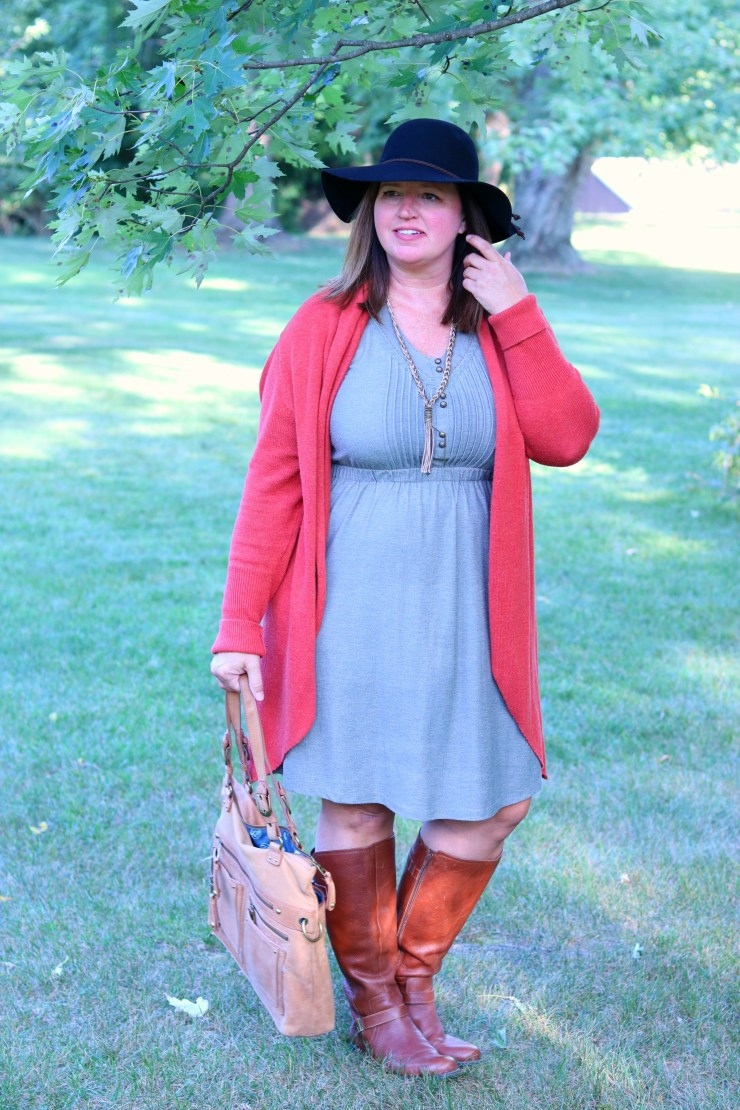 Fall fashion / summer to fall fashion / 1 summer dress - 2 fall outfits / dimplesonmywhat.com