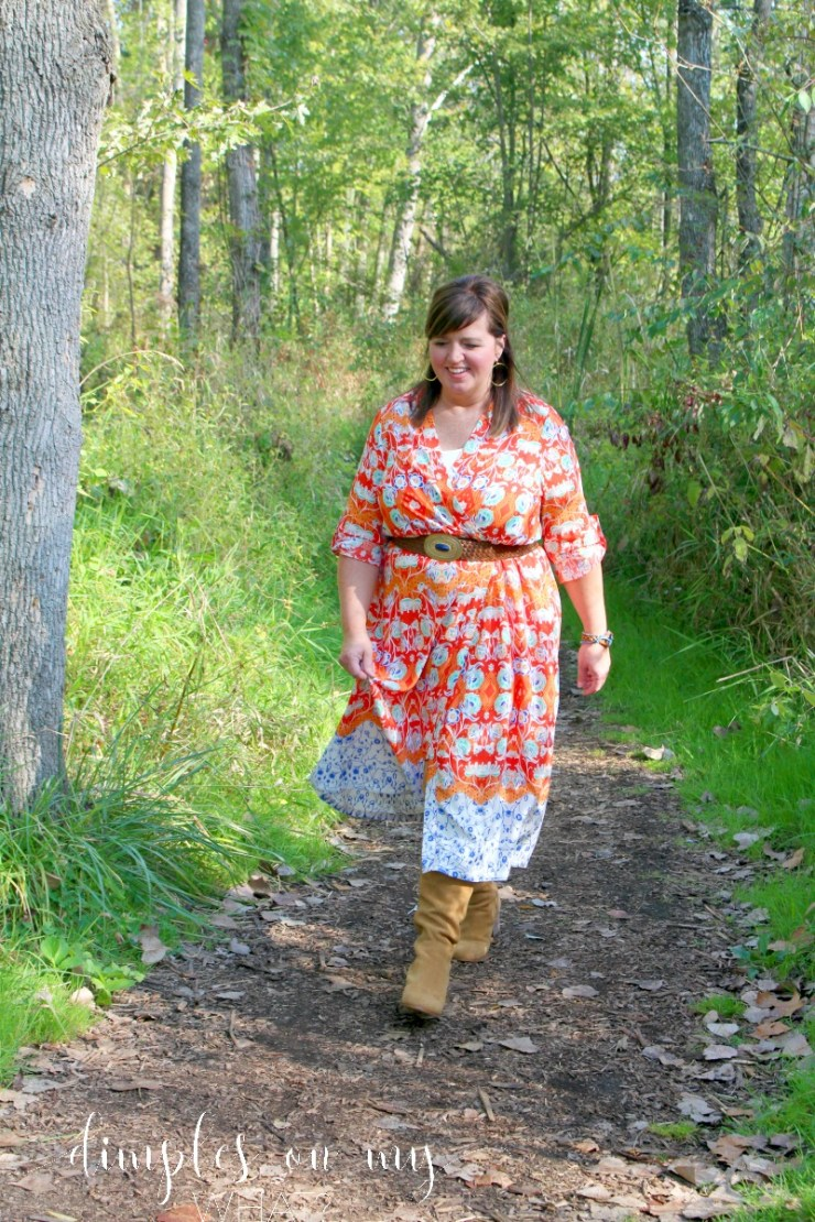 Kimono Worn As A Dress | Fashion Over 50 | Plus Sized Fashion | Curvy Fashion