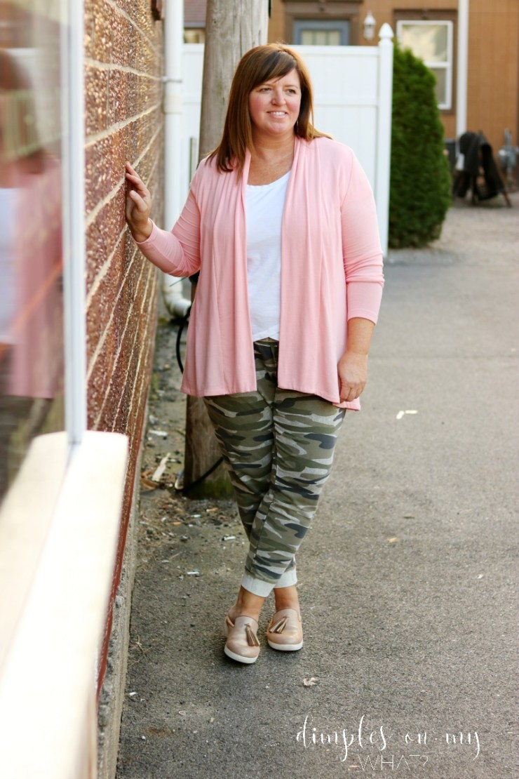 Cozy Weekend Style | Plus Sized Camo Jogger | Casual Fashion Over 50