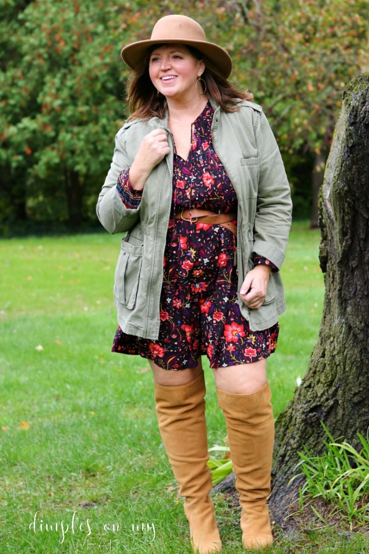 Wide calf over the knee boots | Fashion over 50 | Plus size fashion | Almost plus size fashion