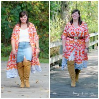 Ageless Style / Fashion Over 50 / Kimono AND Dress / Curvy Style