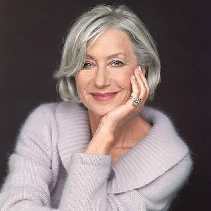 Helen Mirren Gray Hair
