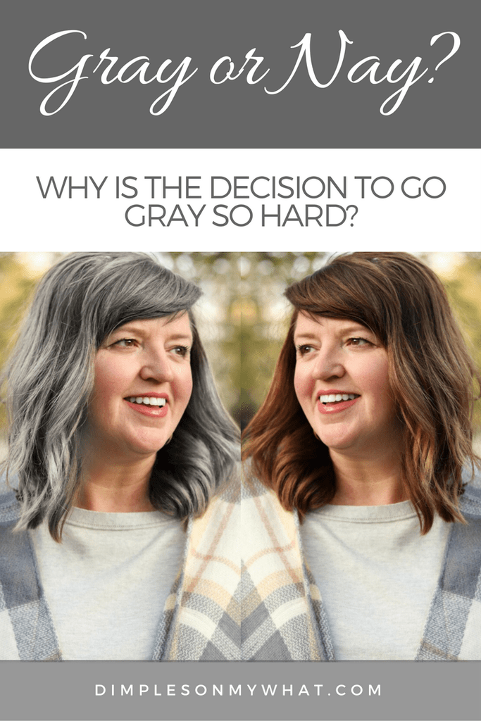 Transitioning to Gray Hair | Truthful thoughts on Letting my Hair Go Gray!