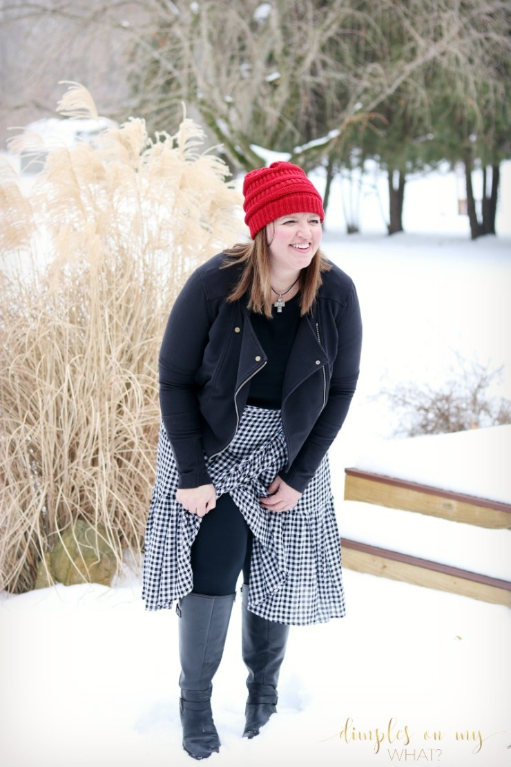 Gingham Wrap Skirt | Fashion for Curvy Women