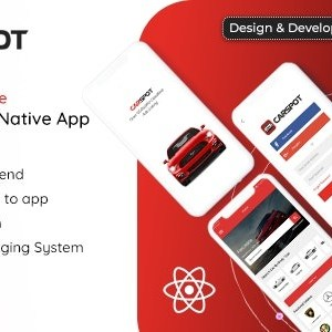 JUAL CarSpot - Dealership Classified React Native Android App + IOS