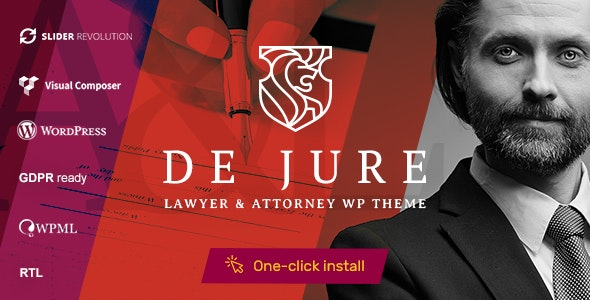 JUAL De Jure - Attorney and Lawyer WP Theme