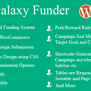 JUAL Galaxy Funder - WooCommerce Crowdfunding System