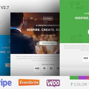 JUAL Gather - Event & Conference WP Landing Page Theme