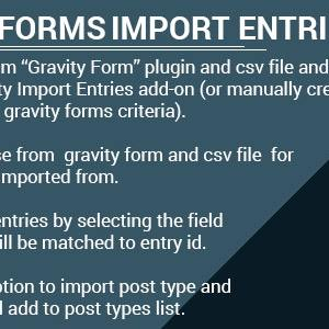 JUAL Gravity Forms Import Entries