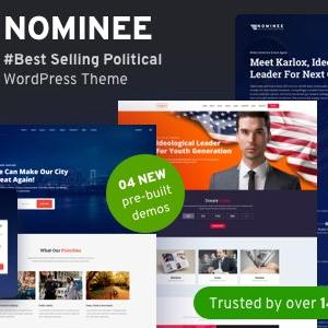 JUAL Nominee - Political WordPress Theme for Candidate/Political Leader