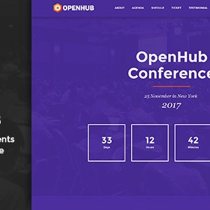 JUAL OpenHub - A Stylish Events & Conference Theme