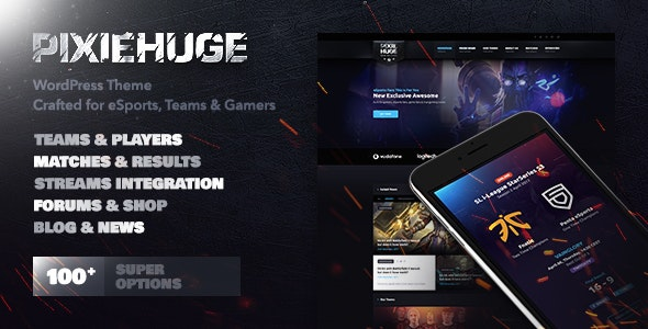 JUAL PixieHuge - eSports Gaming Theme For Clans & Organizations