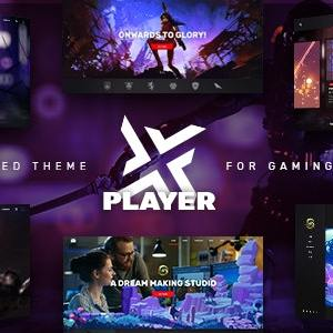 JUAL PlayerX - A High-powered Theme for Gaming and eSports