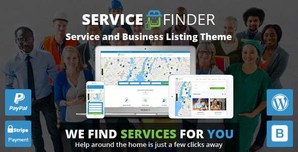 JUAL Service Finder - Provider and Business Listing WordPress Theme