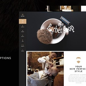 JUAL The Barber Shop - One Page Theme For Hair Salon