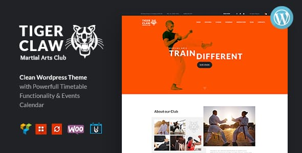 JUAL Tiger Claw - Martial Arts School and Fitness Center WordPress Theme