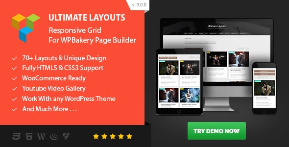 JUAL Ultimate Layouts - Responsive Grid & Youtube Video Gallery - Addon For WPBakery Page Builder