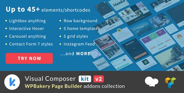 JUAL VCKit - WPBakery Page Builder addons collection (formely Visual Composer)