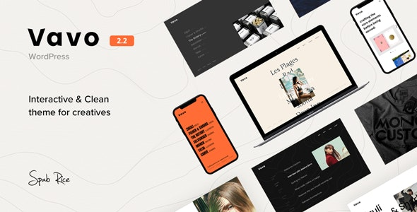 JUAL Vavo - An Interactive & Clean Theme for Creatives