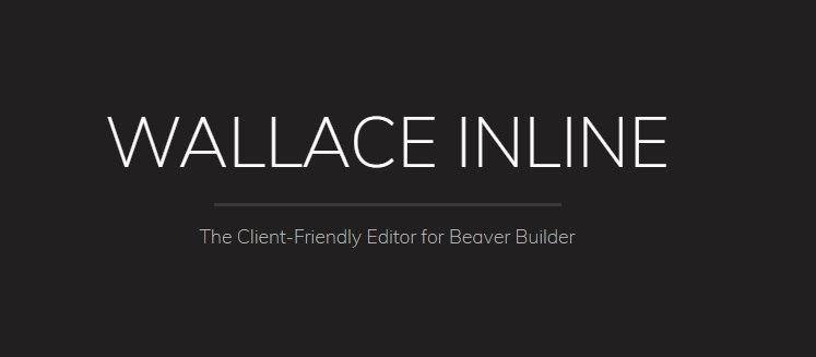 JUAL Wallace Inline - Front-end content editor for Beaver Builder