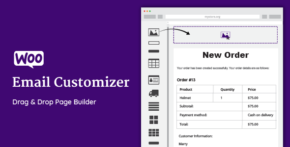 JUAL WooCommerce Email Customizer with Drag and Drop Email Builder