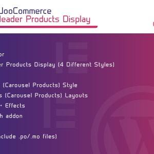 JUAL WooCommerce Header Products Display for Elementor