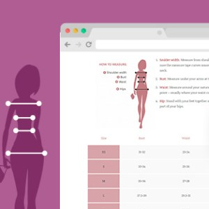 JUAL YITH Product Size Charts for WooCommerce