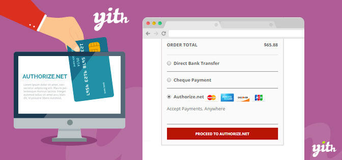JUAL YITH WooCommerce Authorize.net Payment Gateway