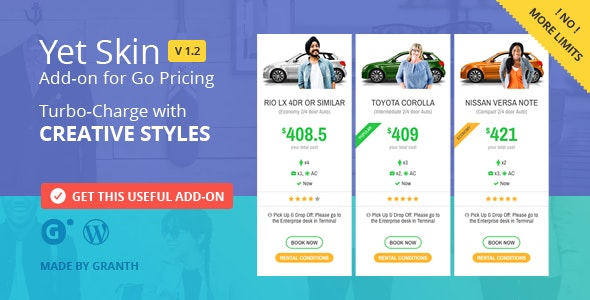 JUAL Yet Skin - Add-on for Go Pricing