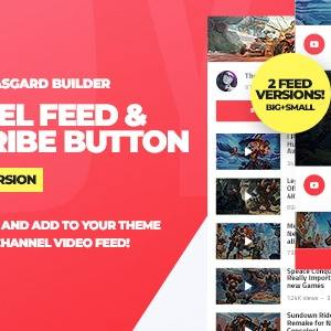 JUAL Youtube Channel Feeds and Subscribe Box WordPress Plugin