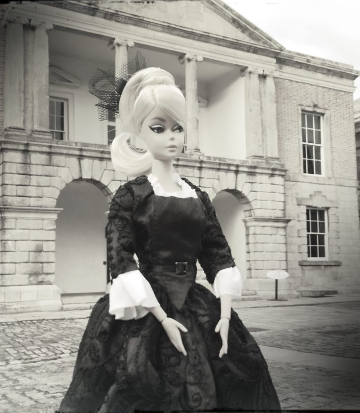 Silkstone Barbie wearing an 18th Century dress