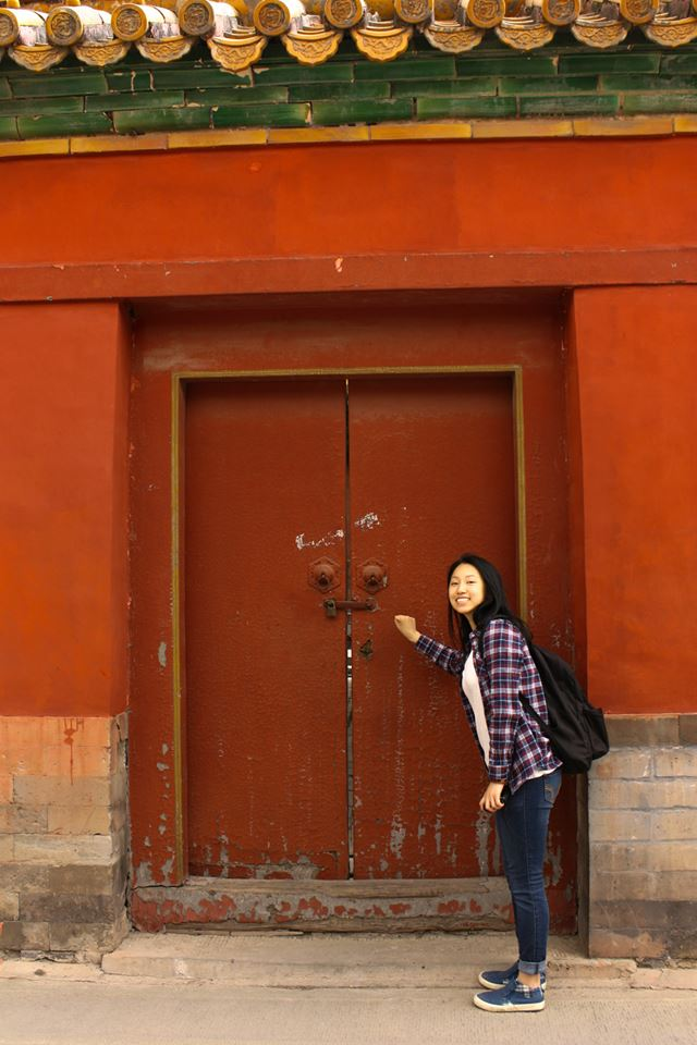 Thanks Jenfay for this picture at the Forbidden City!