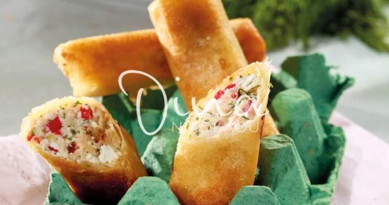Garidoflogeres me anthotyro – Feuilletés de crevette au fromage d'anthotiro