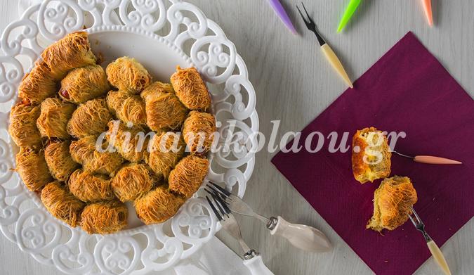 Λουκανικομπουκιές σε φύλλο κανταΐφι