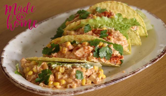 Μεξικάνικα τάκος με κοτόπουλο και αβοκάντο